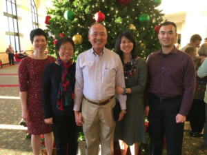 Yi family at Stonebriar Community Church during a recent Christmas