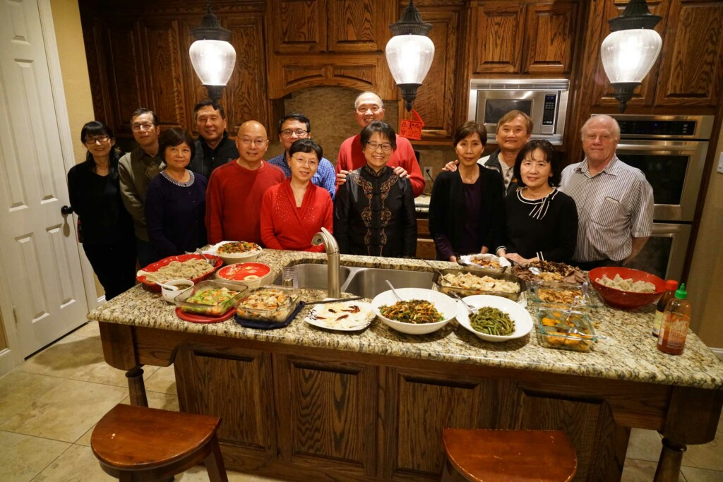 Yi's Home Fellowship Group, sharing a meal and life together