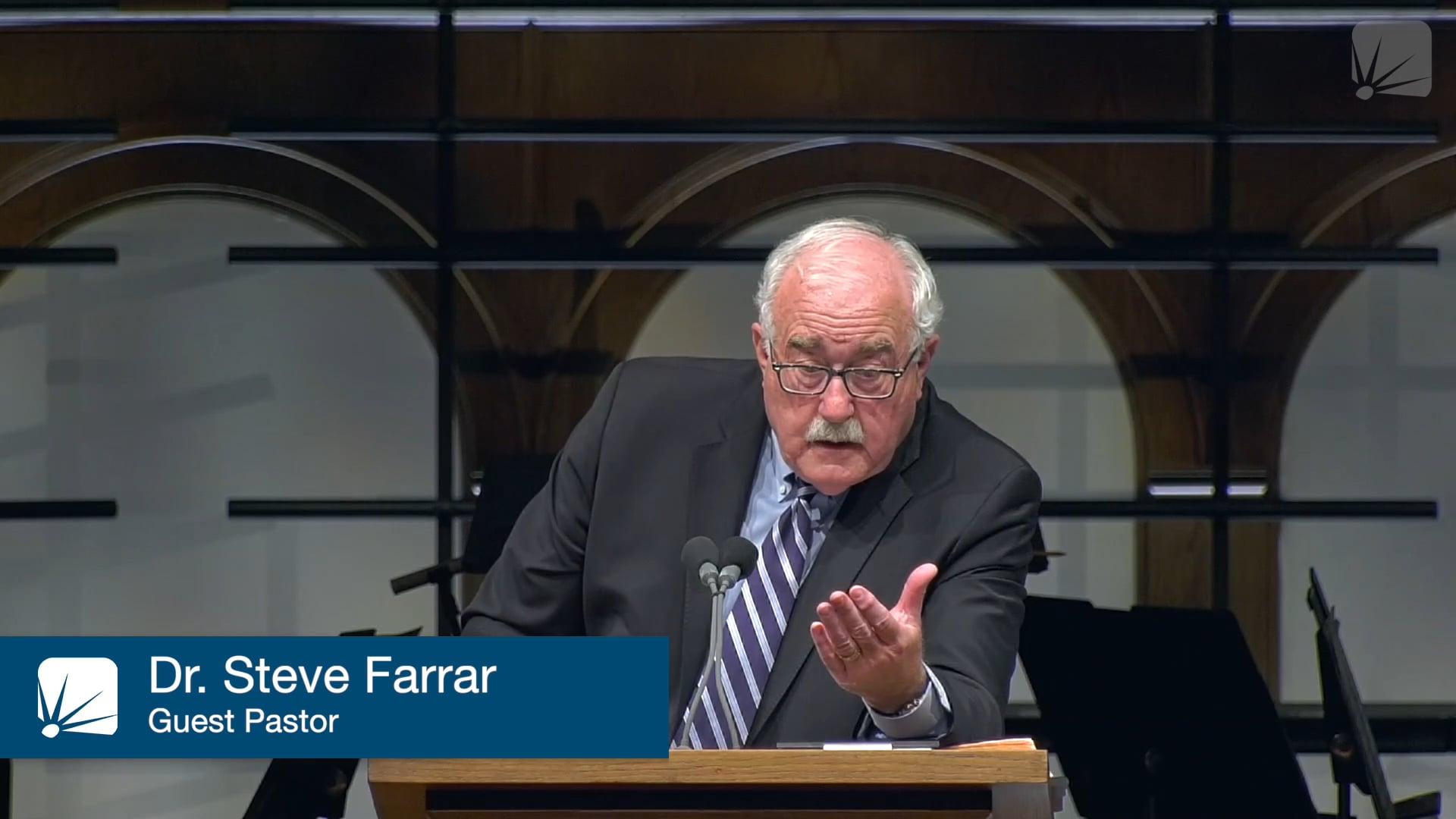 Pulpit Guest: Dr. Steve Farrar