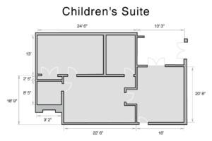 Special Needs Children's Suite Floor Plan and Dimensions