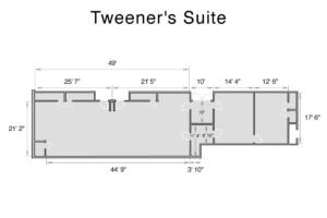 Special Needs Tweener's Suite Floor Plan and Dimensions