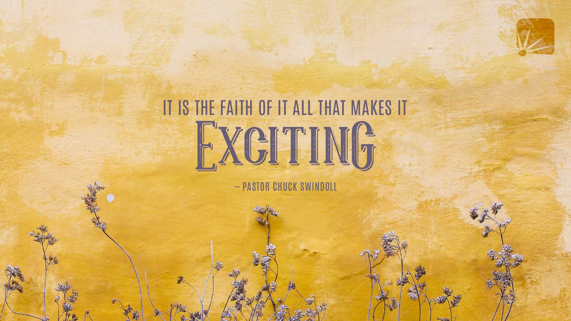 Quote: It is the faith of it all that makes it exciting.