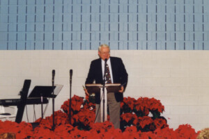Chuck Swindoll preaching