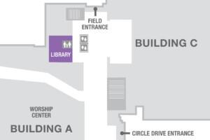 Ubicación de la biblioteca de la iglesia
