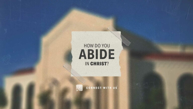 How Do You Abide in Christ?