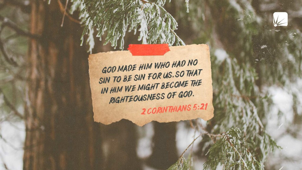 God made Him who had no sin to be sin for us, so that in Him we might become the righteousness of God. (2 Corinthians 5:21, NIV)