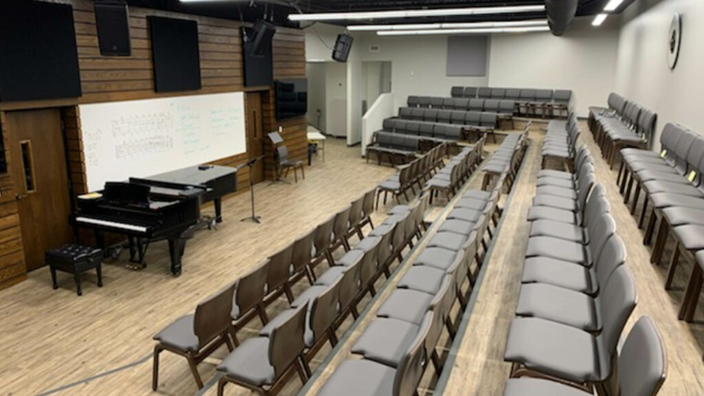 After: Choir Room Seating