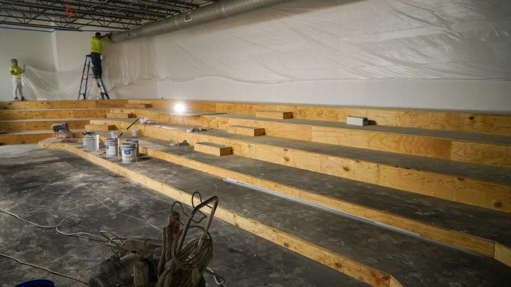 Construction: Choir Seating