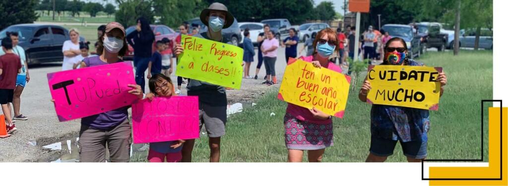 foto: equipo de bienvenida en el programa de almuerzos de verano en Little Elm