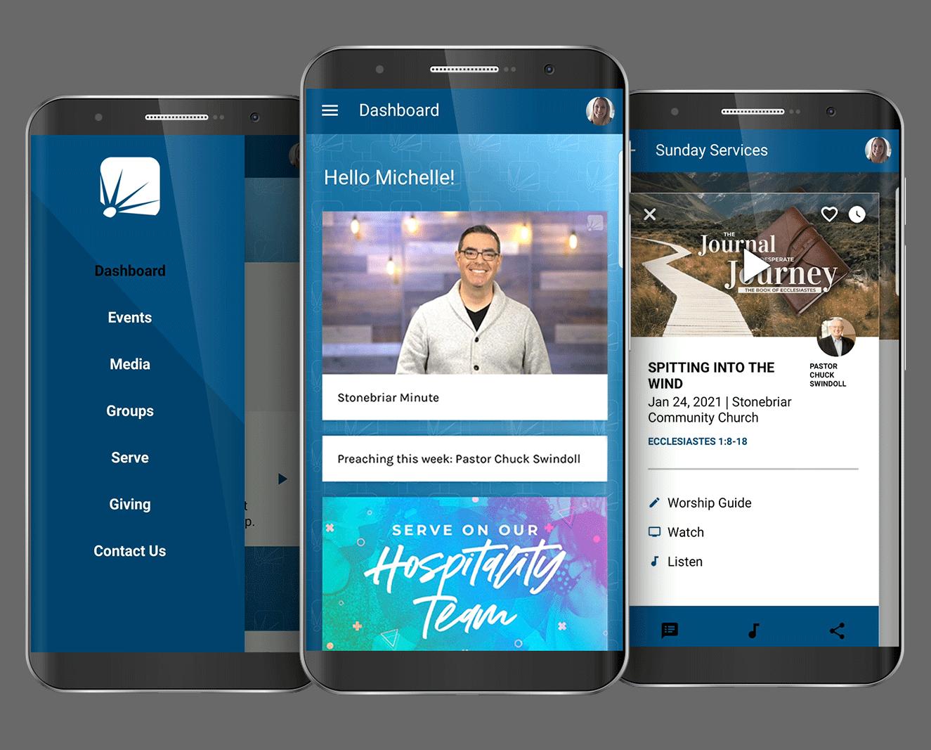 phone with Stonebriar App