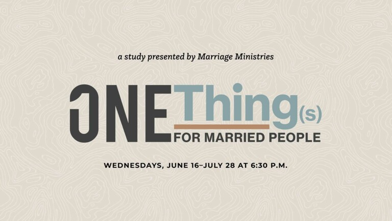 One Thing(s) for Married People