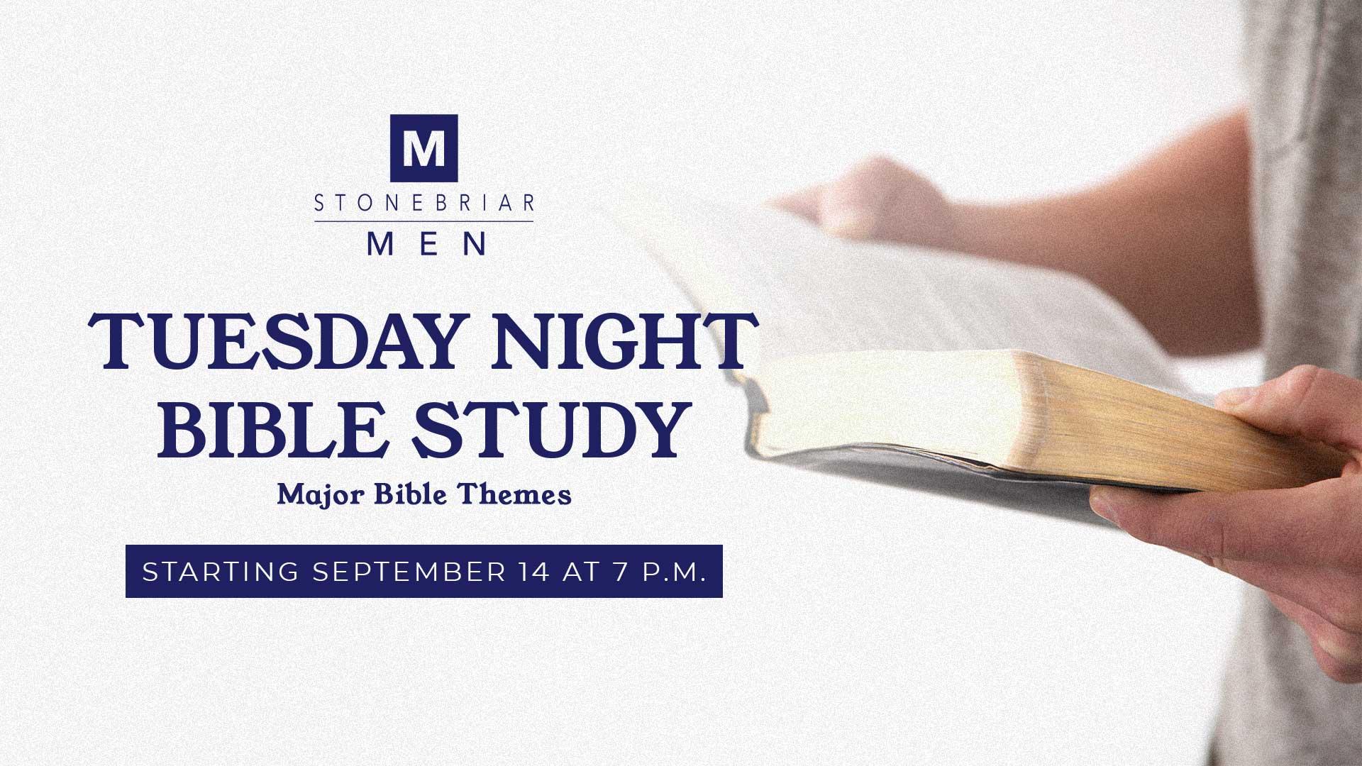 Men's Tuesday Bible Study Online